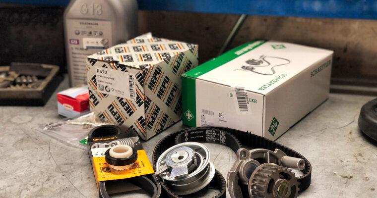 Volkswagen Golf VI — замена ремкомплекта ГРМ с насосом ОЖ на двигателе 1.6 BSE